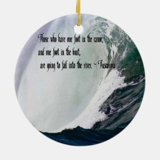 Tuscarora Proverb American Indian quote Round Ceramic Decoration