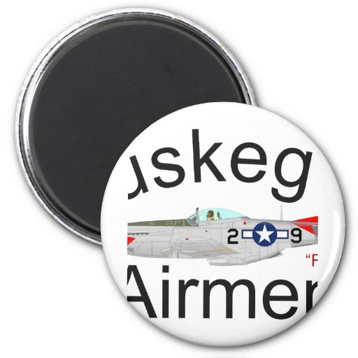 Tuskegee Airman P-51 Red Tails Mustang Fridge Magnet