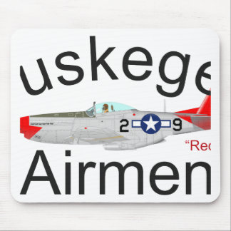 Tuskegee Airman P-51 Red Tails Mustang Mouse Pads