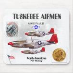 TUSKEGEE AIRMEN -301st Fighter Sq.- WW II Mousepads