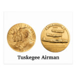 Tuskegee Airmen Gold Medal Postcard