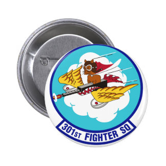 Tuskegee Airmen Tuskegee Red Tails 301-fighter-sq Buttons