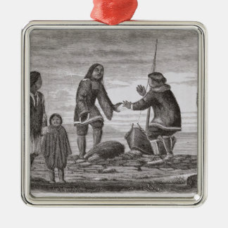 Tuski and Mahlemuts Trading for Oil Christmas Ornament