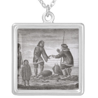 Tuski and Mahlemuts Trading for Oil Silver Plated Necklace