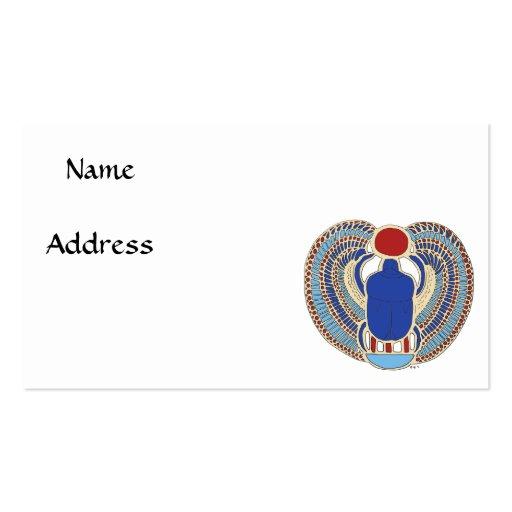 Tutankhamon's Hieroglyph Business Card Template