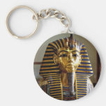 Tutankhamun - Burial mask Basic Round Button Key Ring