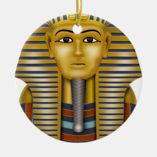 Tutankhamun Egyptian Mask Round Ceramic Decoration