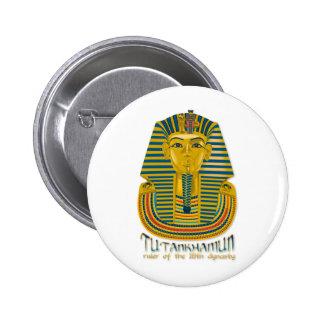 Tutankhamun mummy, the ancient King Tut of Egypt 6 Cm Round Badge