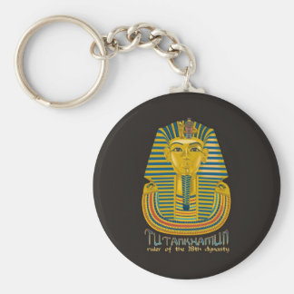 Tutankhamun mummy, the ancient King Tut of Egypt Key Ring