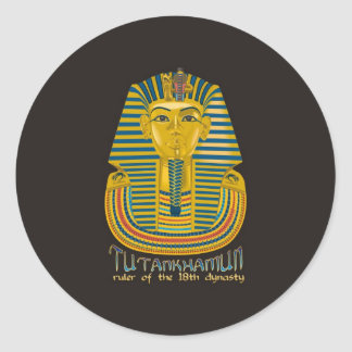 Tutankhamun mummy, the ancient King Tut of Egypt Round Sticker
