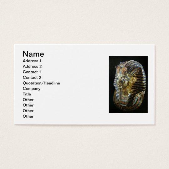 Tutankhamun's Golden Mask Business Card
