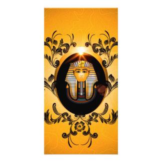 Tutankhamun, the agyptische pharaoh custom photo card