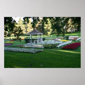 Tuthill flower garden white gazebo Sioux Falls SD Poster