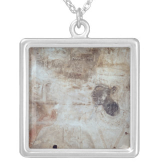 Tuthmosis III  offering incense to the god, Silver Plated Necklace