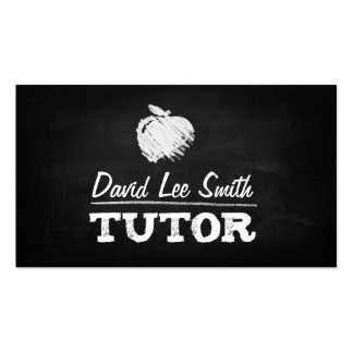 Tutor chalkboard with Apple Pack Of Standard Business Cards