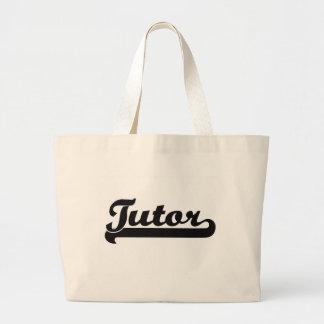 Tutor Classic Job Design Jumbo Tote Bag