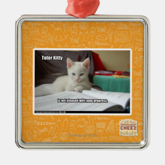Tutor Kitty Christmas Ornament
