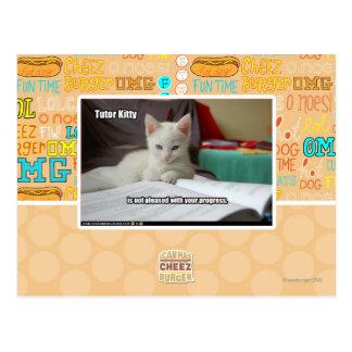 Tutor Kitty Postcard