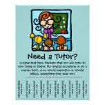 Tutor promotional tear sheet flyer