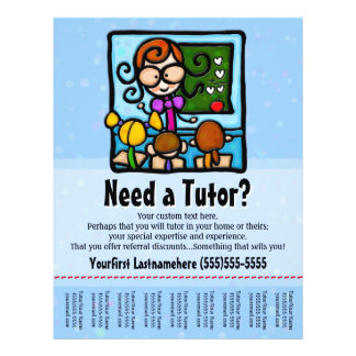 Tutor.Tutoring.Custom text/color Flyer