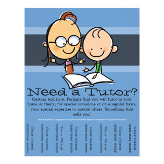 Tutor.Tutoring.Customizable advertising Flyer