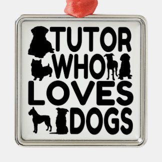 Tutor Who Loves Dogs Christmas Ornament