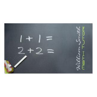 Tutorial Math Pack Of Standard Business Cards
