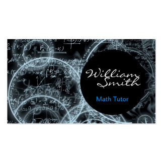 Tutorial Math Business Cards