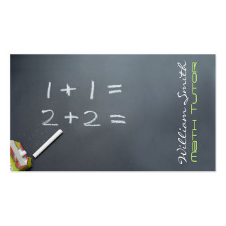 Tutorial Math Pack Of Standard Business Cards