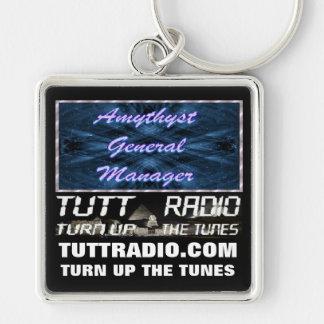 Tutt Radio Amythyst Keychain