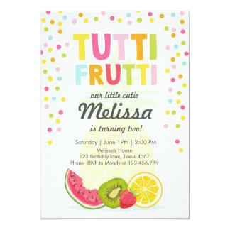 Tutti frutti party invite Tutti frutti birthday