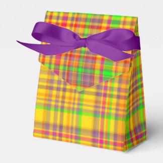 Tutti Frutti PLAID 2-FAVOR BOX, tent Wedding Favour Boxes