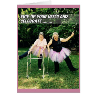 Tutu Birthday Cards for Senior Women