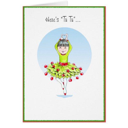TuTu Greeting Card