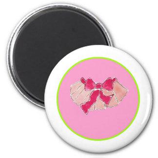 tutu circle pink green 6 cm round magnet