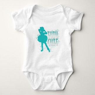 TuTu Cute (Aqua) Baby Bodysuit