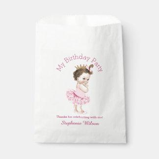 Tutu Cute Ballerina Birthday Brunette Princess Favour Bags