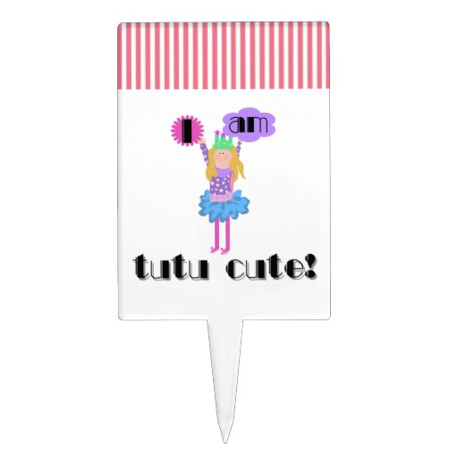 Tutu Cute Ballerina Cake Toppers