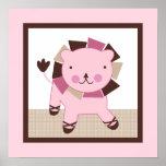 Tutu Cute/Ballerina Lion Girl Poster Wall Art