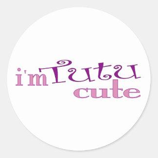 Tutu Cute (Ballet) Classic Round Sticker