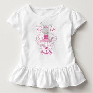 Tutu Cute Bunny Personalized Toddler T-Shirt