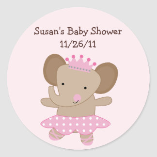 Tutu Cute Elephant Stickers/Envelope Seals Round Sticker