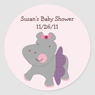 Tutu Cute Hippo Stickers/Envelope Seals Round Sticker