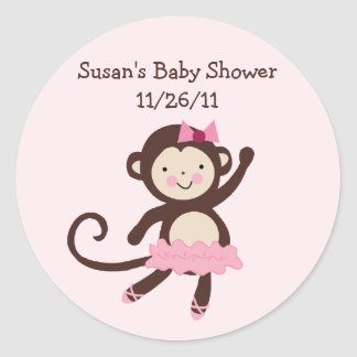Tutu Cute Monkey Stickers/Envelope Seals Round Sticker