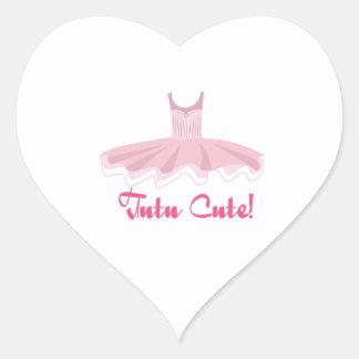 Tutu Cute Heart Stickers