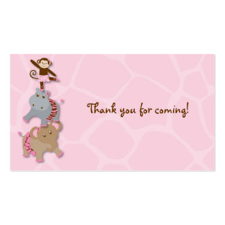 Tutu Jungle Monkey Goodie Bag Tags Pack Of Standard Business Cards