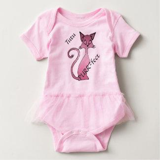 Tutu purr-fect kitty pink baby girl ruffle dress