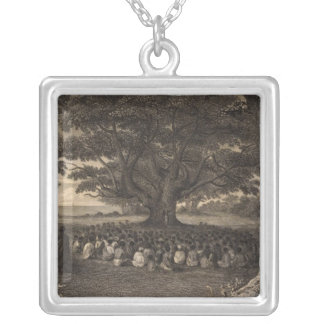 Tutui Trees, Hawaii Silver Plated Necklace