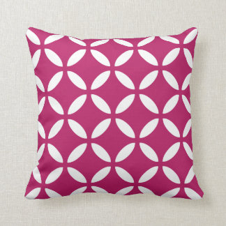 Tuva Pattern Madder Carmine Geometric Throw Pillow Cushions