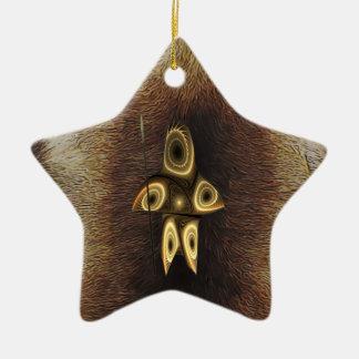 Tuvaaq - Fractal Inuit Hunter Ceramic Star Decoration